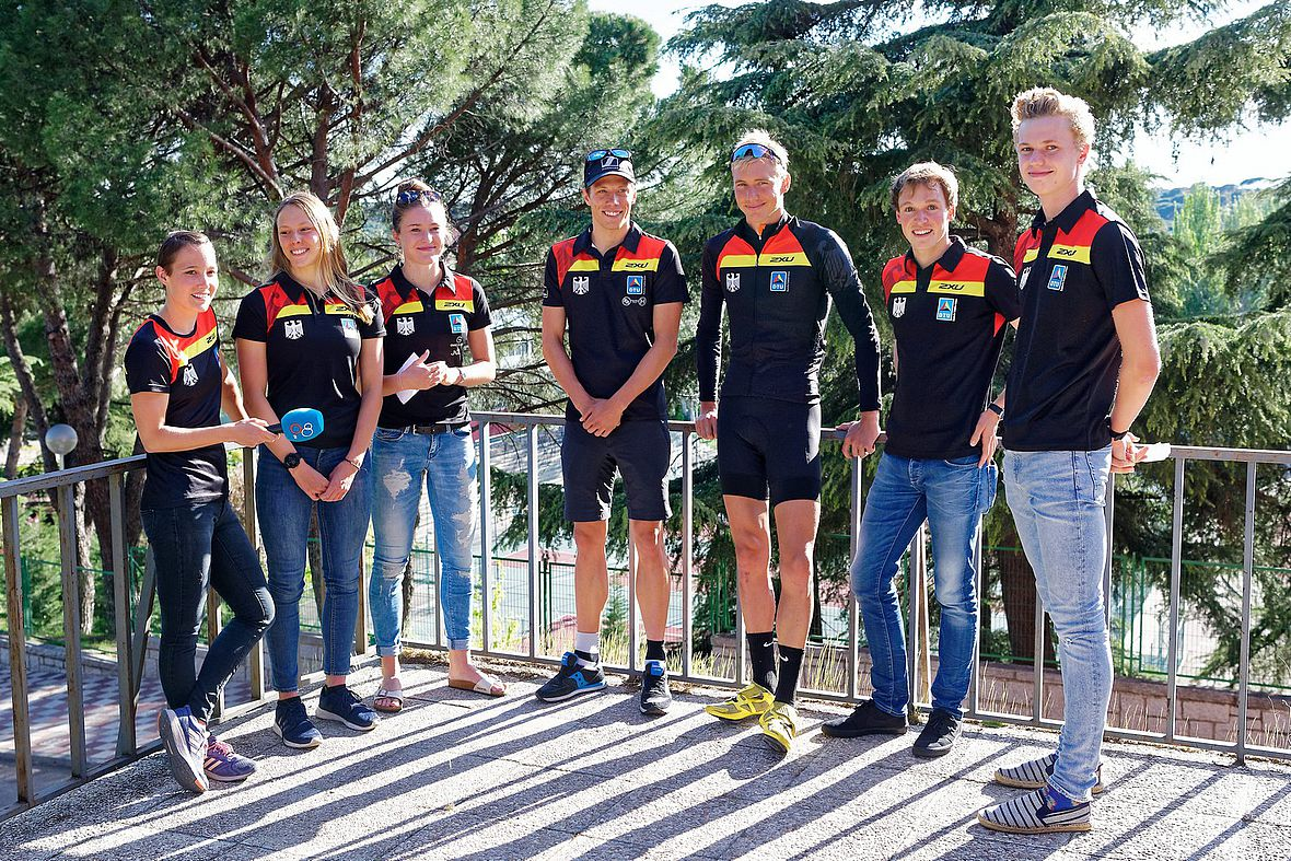 Das DTU-Team beim ITU World Cup in Madrid