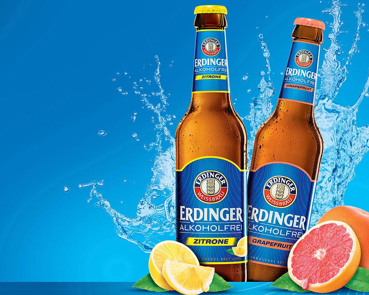 Neuer Geschmack: Erdinger Alkoholfrei jetzt mit Zitrone ...