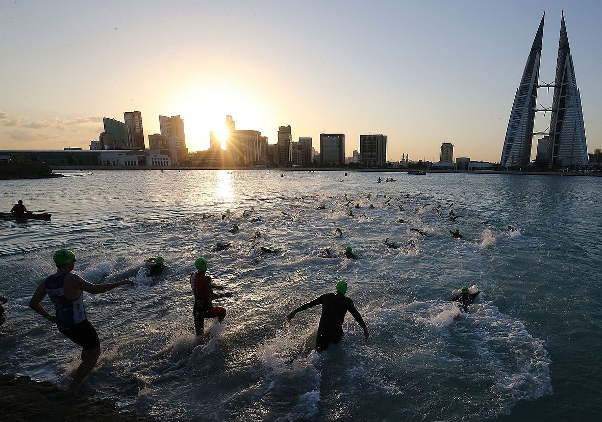 Start zum Ironman 70.3 Bahrain