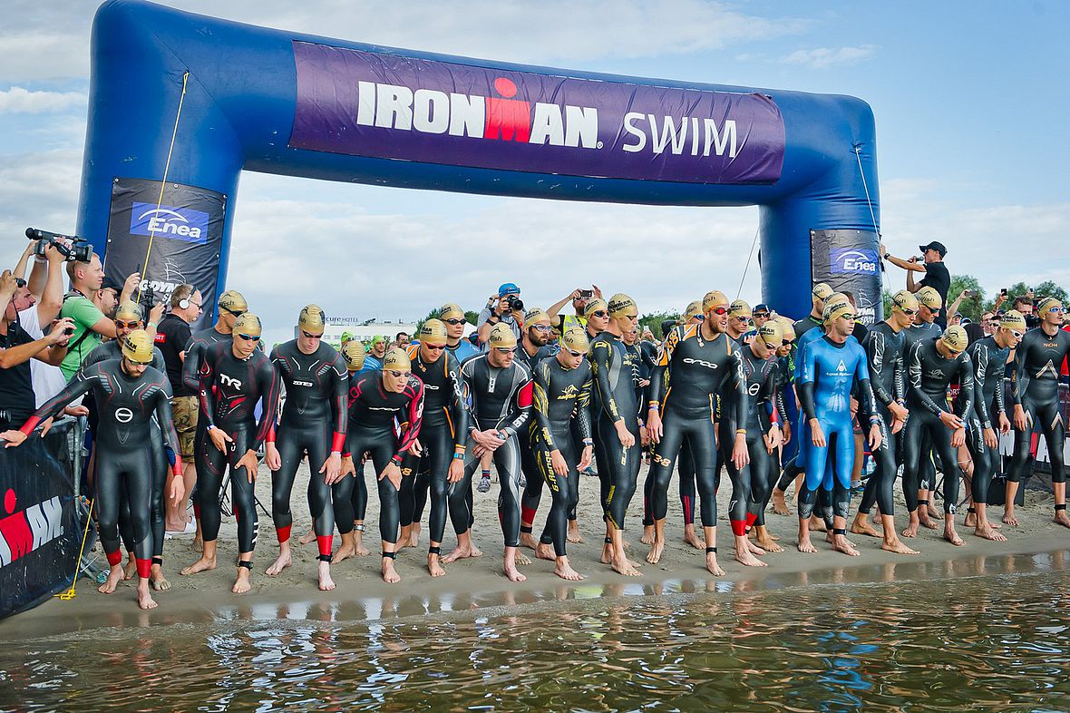 Start zum Ironman 70.3 Gdynia