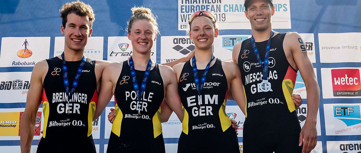 Triathlon Kurzdistanz-EM: DTU-Team holt Silber in der Mixed Relay