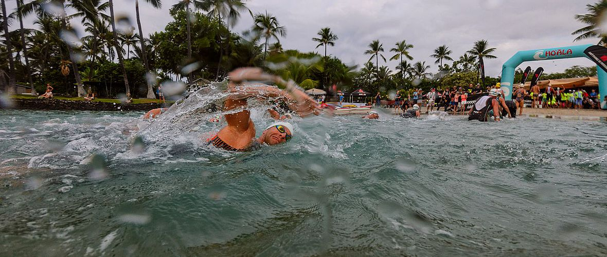 Hoala Swim: Streckentest in der Kailua-Bay